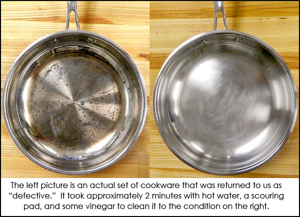 Cleaning Stainless Cookware