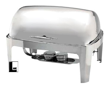 8 Qt Full Size Roll Top Oblong Chafing Dish Heavy Weight Stainless LodgingKit