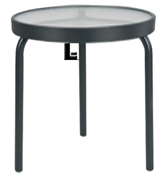 18 Inch Round Acrylic Side Table