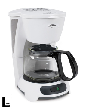 220v240v sunbeam 4 cup commercial coffee maker auto off white