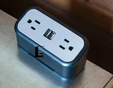 Cubiemini Portable Power 2 Power Outlets And 2 Usb Ports