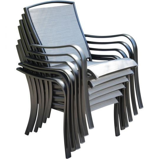 Commercial Sling Aluminum Chat Sling Chair S/1