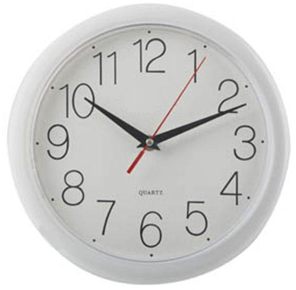 10 inch wall clock white