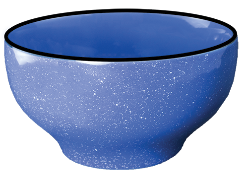 Campfire Dinnerware, Blue Speckled Bowl