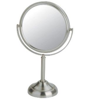 Vanity mirro, Tabletop, Chrome, Bathroom