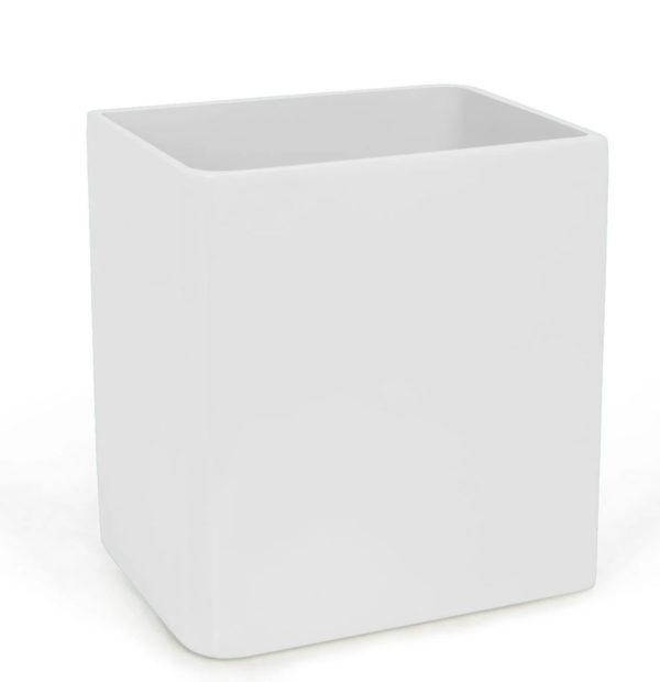 Lacca Wastebasket White