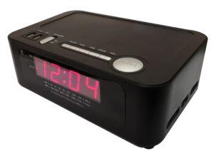 wireless charging in-room clock radio & alarm w/ bluetooth