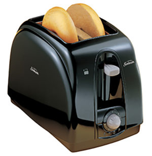 Black Two Slice Toaster Kitchen Appliance