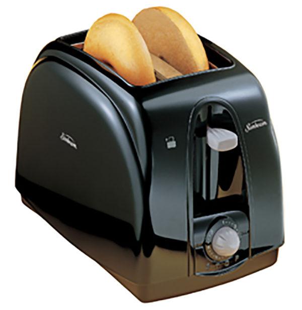 Black Two Slice Toaster Kitchen Appliance