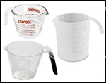 Glass & Plastic Measuring Cups