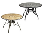 Pedestal Tables with Metal Legs