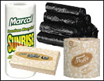 Toilet Tissue, Paper Towels, Trash Bags