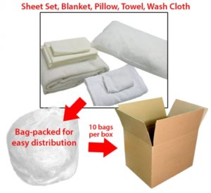 Emergency Bed In A Bag Linen Kit