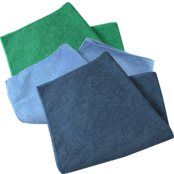 Economy Select® microfiber towels work super efficiently, dry or damp to remove micro-particles, dust, dirt and surface moisture. 80% polyester and 20% polyamide.