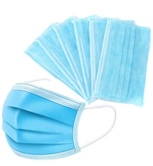 Individually Wrapped 3 Ply Ear Loop Disposable Face Masks 1 Box (50 Masks)