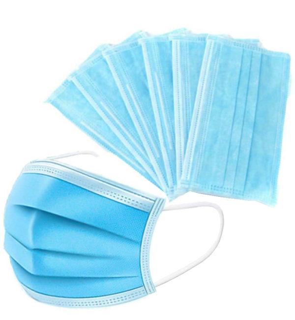 Individually Wrapped 3 Ply Ear Loop Disposable Face Masks 1 Box (50 Masks)