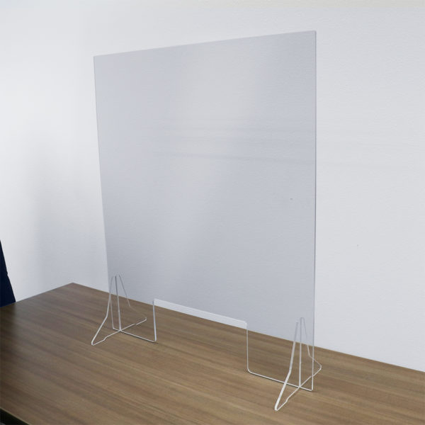 Countertop Acrylic Shield with Cutout