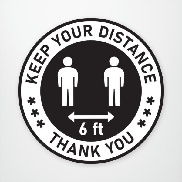 Social Distancing FLOOR Decals - COVID DECAL