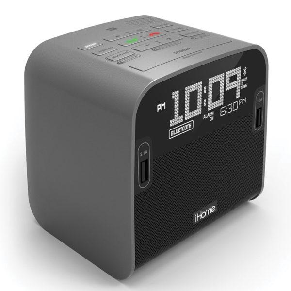 HBN22 NFC Bluetooth FM Clock Radio with Speakerphone and Dual USB Charging