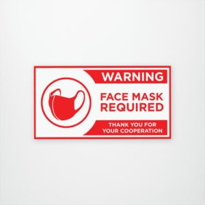 Mask Required Window/wall decal removable