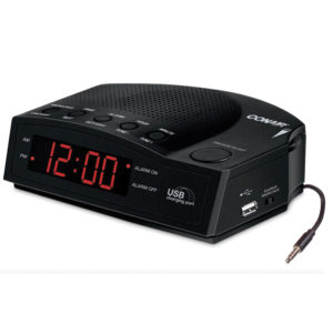 CONAIR® Alarm Clock Radio with USB Charging Port WCR14