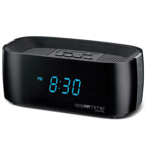 CONAIRTIME® Digital Alarm Clock with Dual USB Charging Ports WCL70BK