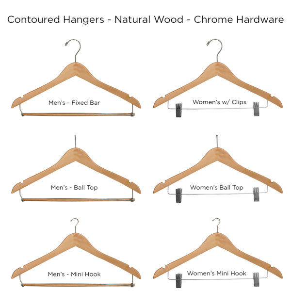 Contour-Hangers-Natural-ALL for hotel guest rooms
