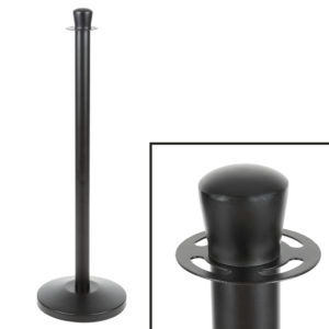 Crown Top Rope-Style Crowd Control-Guidance Stanchion-40 inch for hotels, resorts, restaurants, and bars