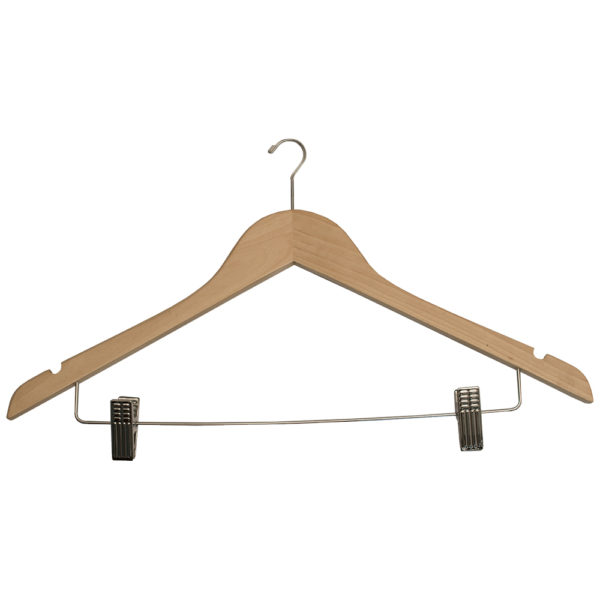 Mini Hook Ladies' Hangers with Clips for hotels - Natural_Chrome-32092