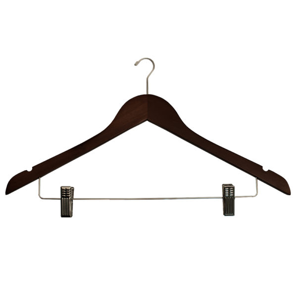 Mini Hook Ladies' Suit with Clips - Mahogany-Chrome-for-hotels-35292
