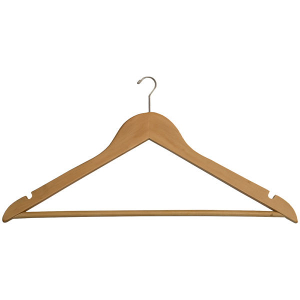Mini Hook Men's Hangers for hotels-Fixed Bar - Natural_Chrome-31090