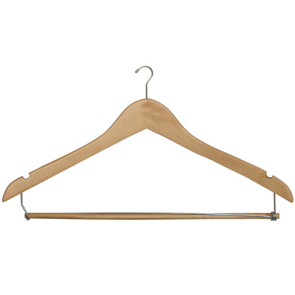Mini-Hook Men's-Suit-with-Lock-Bar-Natural-Chrome-for-hotels-34191