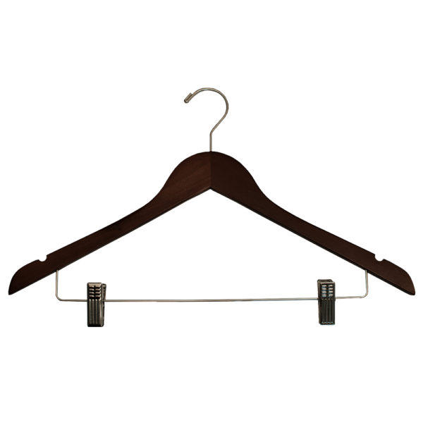 Regular Hook Ladies' Suit with Clips-Mahogany-Chrome for hotels-35272