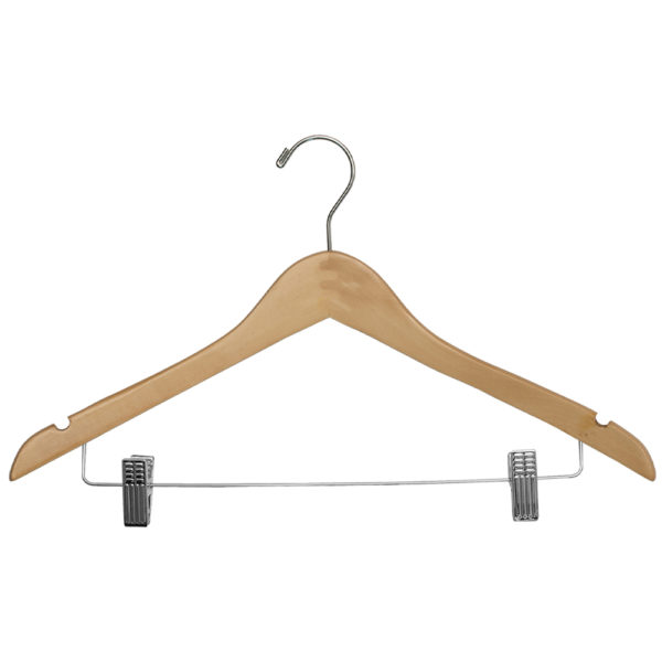 Regular Hook Ladies' Suit with Clips - Natural_Chrome for hotels -35172