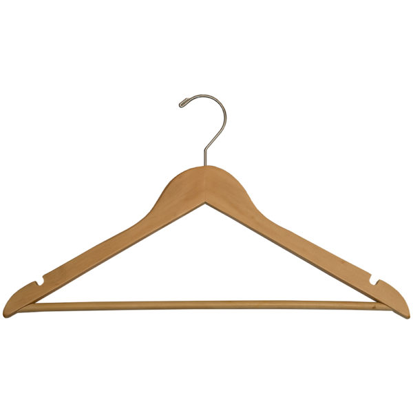 Regular Hook Men's Hangers for hotels, Fixed Bar - Natural_Chrome-31070