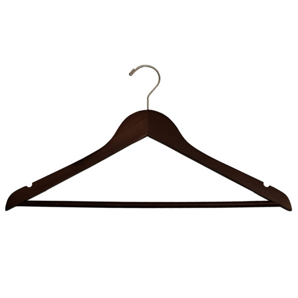 Regular Hook Men's Suit with Lock Bar-Mahogany-Chrome-for-hotels-34271