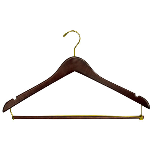 Regular Hook Men's Suit with Lock Bar - Walnut-Brass-for hotels-34271