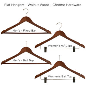 Walnut-Flat-Wood-Hangers for hotels -ALL