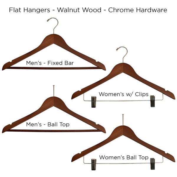 Walnut-Flat-Wood-Hangers for hotels -ALL