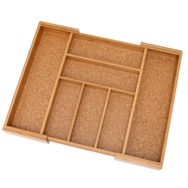 Wood Drawer Organizer, Expandable, Bamboo & Cork