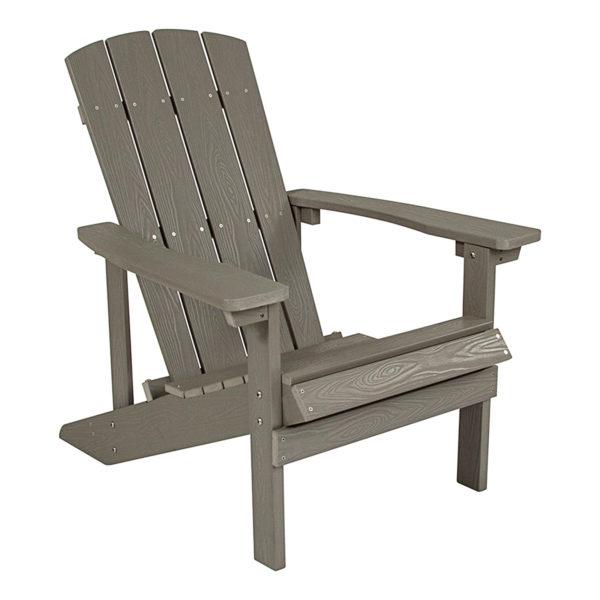 Polystyrene Adirondack Chair, Gray