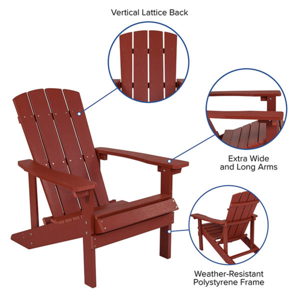 composite wood adirondack chair specs