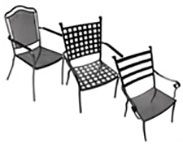 Wrought Iron Seating Stackable