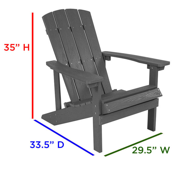 Composite Wood Adirondack Chairs, Poly, Outdoor, Commercial, Faux Wood