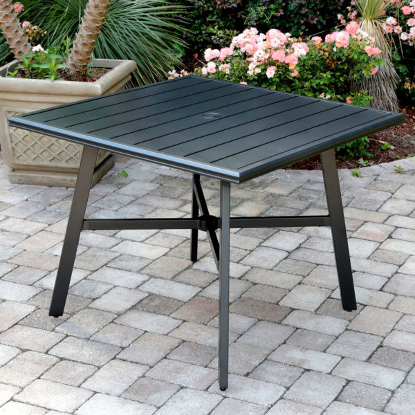 Aluminum dining table, commercial, restaurant hotel use