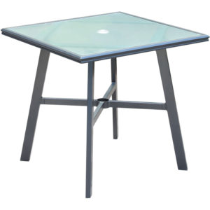 Square glass top table