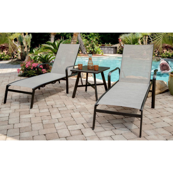 Chaise lounge for hotel pools, Commercial outdoor furniture with sling fabric