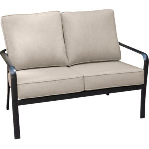 Outdoor Loveseat With Sunbrella Cushions for hotel pools, outdoor dining and balconies