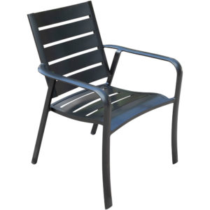 slat back chair, commercial