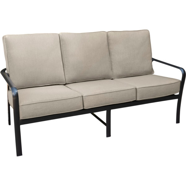 Commercial Outdoor Sofa w Waterproof Cushions, Aluminum Hotel Furniture